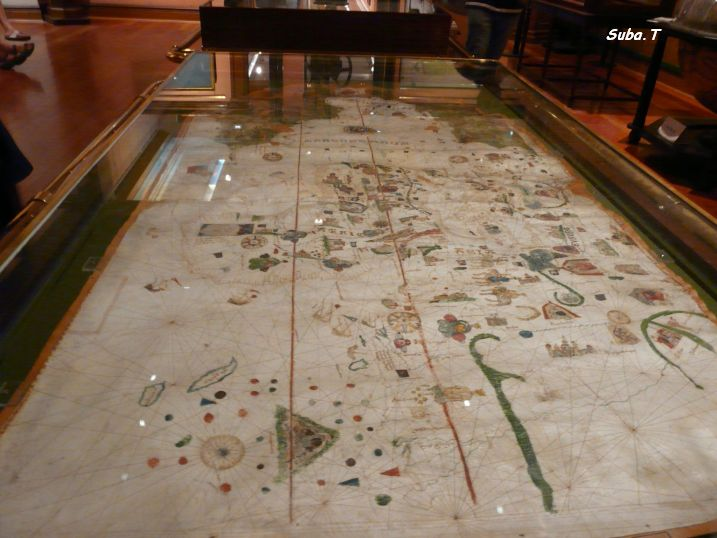 1500 இல் வரையப்பட்ட மேப்பா முண்டி (அசல்) - அருங்காட்சியகத்தின் உள்ளே (ஏப்ரல் 2013)