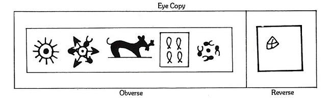 படம் 6. பாண்டியர் கர்ஷபணம். முதலை மீனைக் கவ்விக்கொண்டுள்ளது (தவறாக, நாய் முயலைக் கவ்விக் கொண்டுள்ளது என வரையப்பட்டுள்ளது)