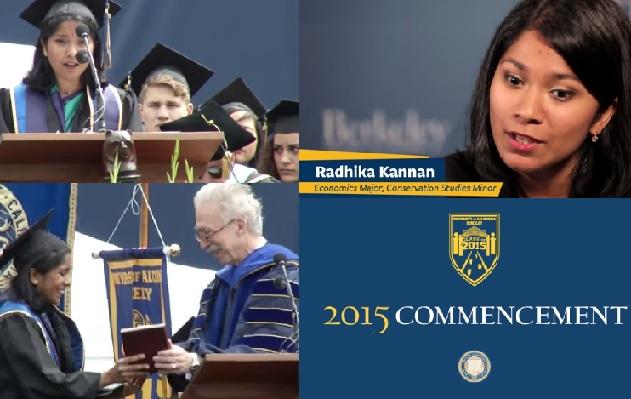 Radhika Kannan graduating