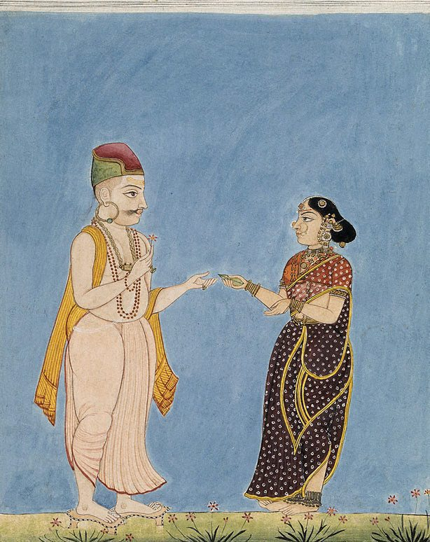 Artist : Company school (India, estab. late 18th century, closed late 19th century) Title : Date : circa 1800 Medium Description: opaque watercolour with gold on paper Dimensions : Credit Line : Gift of Mr George Sandwith 1957 Image Credit Line : Accession Number : 9636