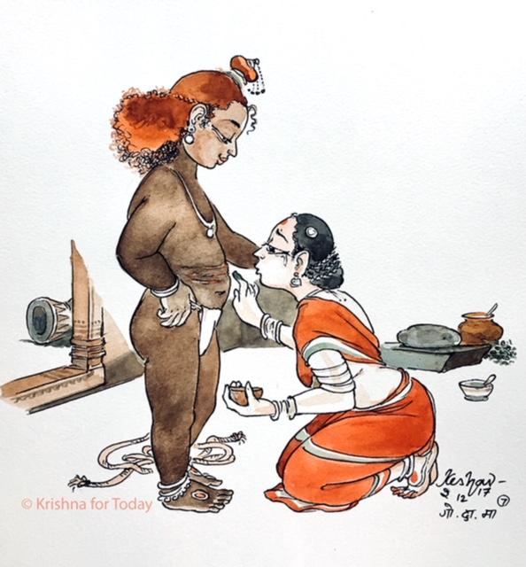 171202 -Govinda Damodara Madhaveti 07 -watercolour -lr -24x32cms Canson 200gsm