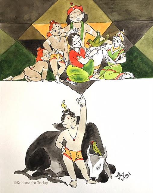 171204 - GoDaMa -NAmaraksha -watercolour -24x32cms Canson 200gsm -lr